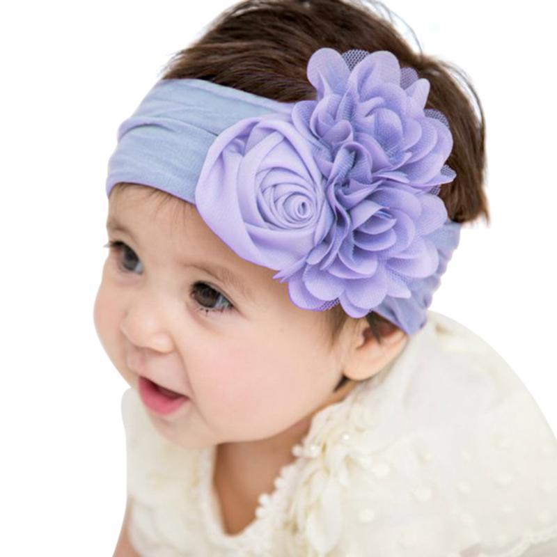 Аксессуары для волос Дети Оголовья повязки лук для девочек ухальные волосы рожденные малыши цветы тюрбан головные уборы ребенка 6.1
