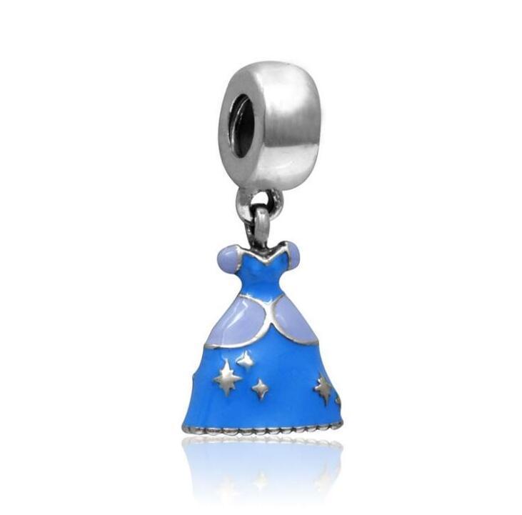 Стерлинговые серебряные подвески и набор из бисера из муранского стекла вписывается в европейские ювелирные изделия из ювелирных изделий Pandora.