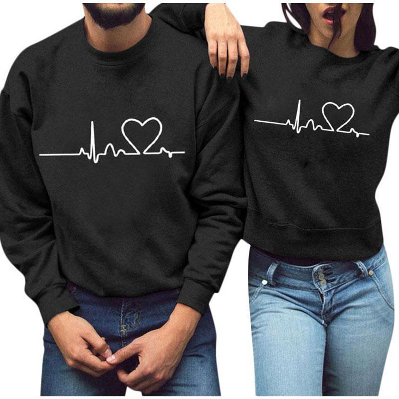 2021 New Fashion Hoodie Womens Letters Print Long Sleeve Men Sweatshirt Ladies Slouch Pullover Jumper Tops Couple Sweatshirts
