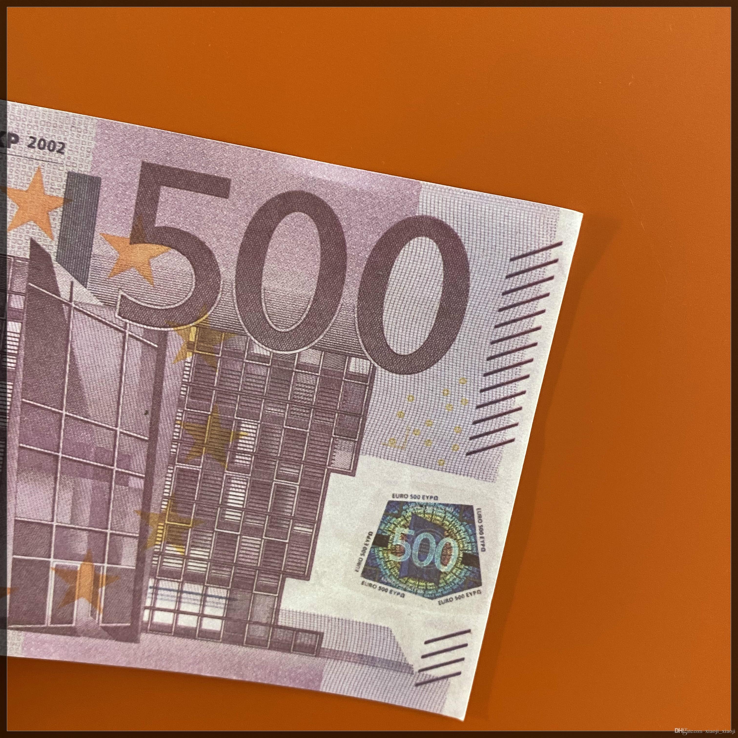 Money Paper Money Wholesale 500 Pretend Euro Realistic Copy Pop Banknote Pack 100pcs / Euro 02 Vkapp