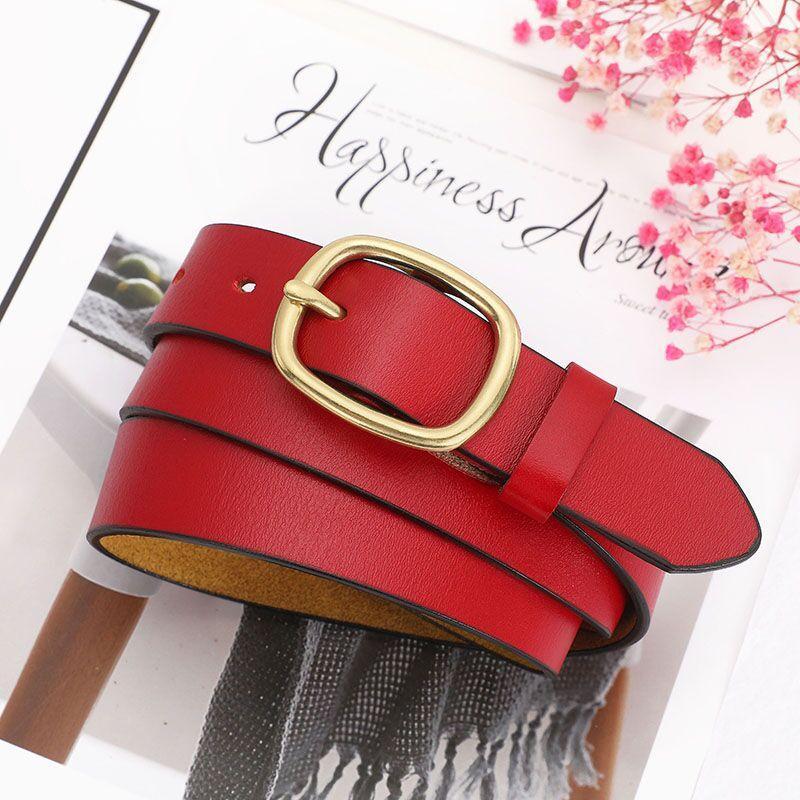 2020 أعلى 1 حزام الأعمال الكلاسيكية بالجملة جودة عالية النساء أحزمة معدنية مشبك حزام جلد للرجال عرض المرأة 3.8 سم