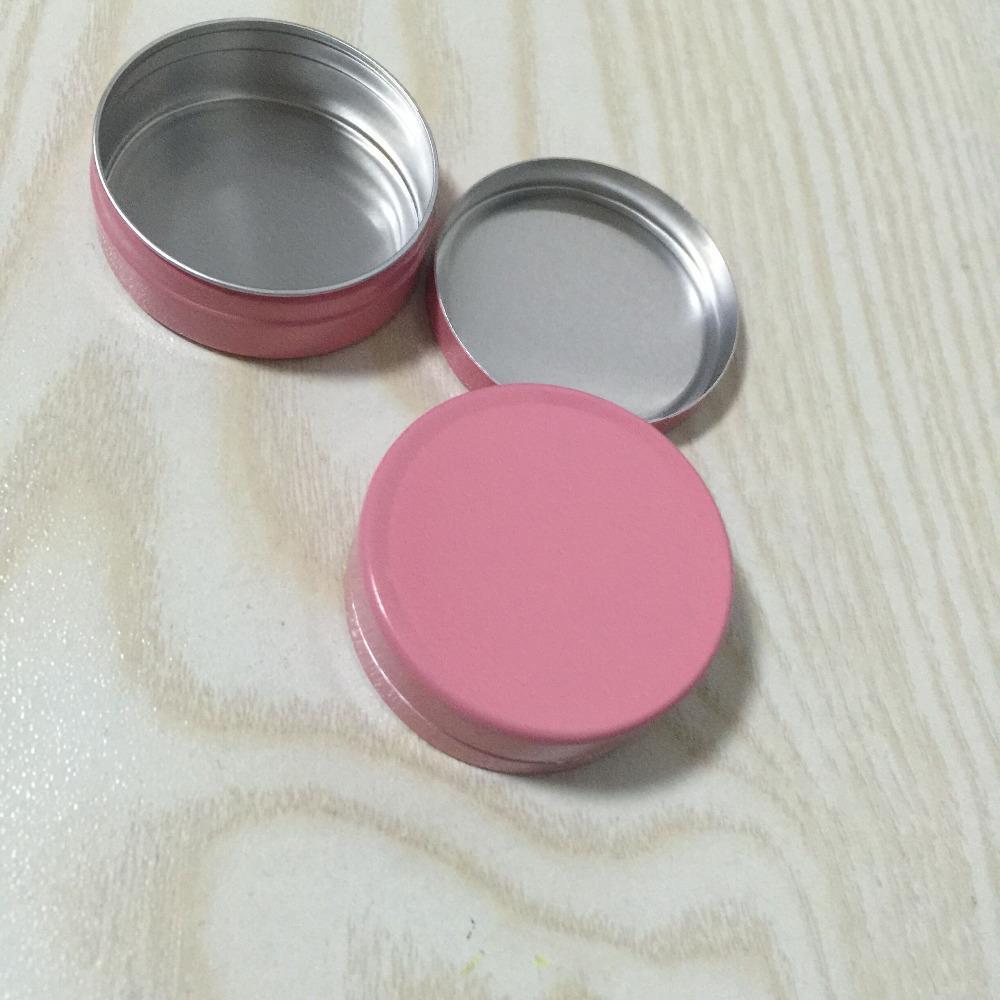 10g Boş Pembe Alüminyum Kozmetik Kapları Pot Baz Dudak Balsamı Kavanoz Kalay Krema Merhem El Kremi Paketleme Konteyner Kutusu