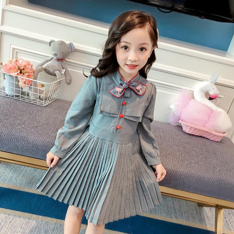 Chicas estilo otoño niños ropa lol muñecas disfrazamiento bebé niña vestido para fiesta y boda 2 3 8 años Q1118