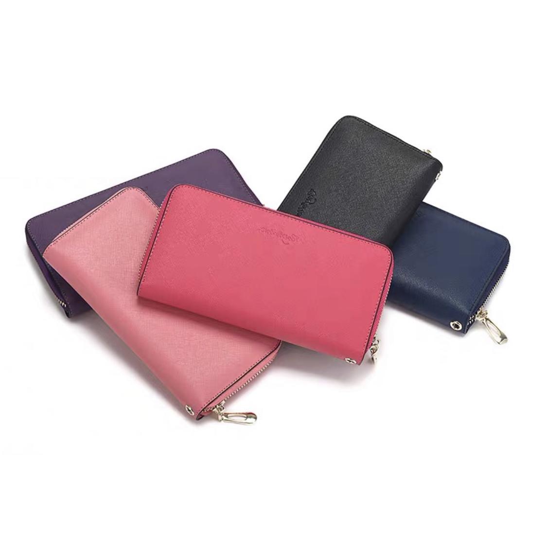 أعلى جودة محفظة سيدة عملة محفظة جلدية محفظة للنساء جلد طويل محفظة حقيبة المال سستة الحقيبة عملة جيب ملاحظة مخلب بالجملة