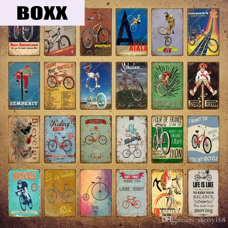 2021 Funny Ride Bicycle Métal Signes Signes Vélo Vélo Vike Affiche Vintage Bar Pub Club Maison Décor Chabby Chic Mur Art Peinture Plaque Garage