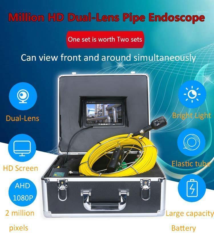 Sistema telecamera di ispezione del tubo di ispezione del condotto di scarico della fotocamera Doppia fotocamera 1080P 30m 50m 42mm1
