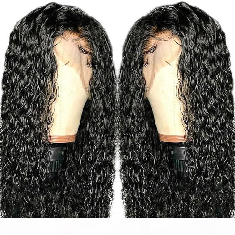 360 Dantel Frontal Peruk Pre Klumped Siyah Kadınlar Için Tutkalsız Bakire Brezilyalı Saç Kıvırcık 13x6 Dantel Ön Peruk Önce