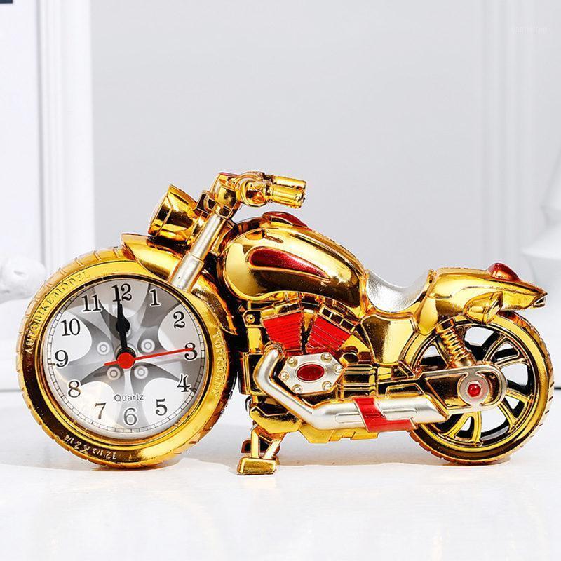 Venta caliente retro motocicleta reloj despertador forma creativo retro regalos lujos de lujo muebles de lujo boutique casero decorar fresco regalo reloj 1