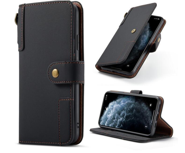 탑 럭셔리 제이 가죽 PU 지갑 케이스 플립 커버 휴대 전화 케이스 아이폰 12 11 Xsmax 삼성