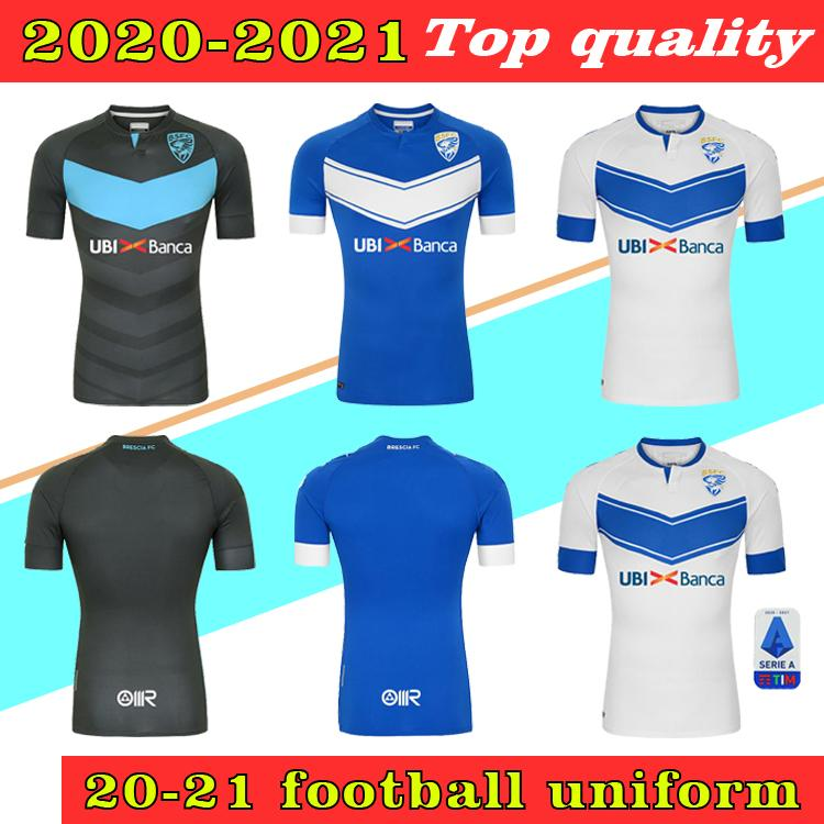 2020 2021 Brescia Calcio Jerseys de fútbol Magnani Tonali Donnarumma Aye Maglietta Morosini Balotelli Custom 20 21 Camisa de fútbol