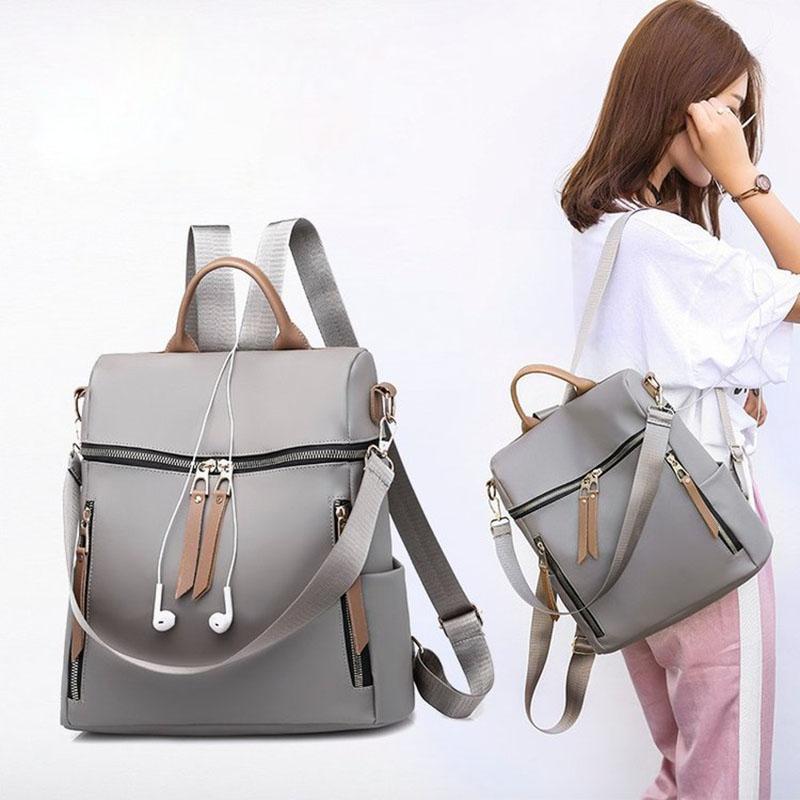 Nylon impermeável mulheres mochila para adolescentes saco grande ombro e sacos designer mochilas mulheres de alta qualidade