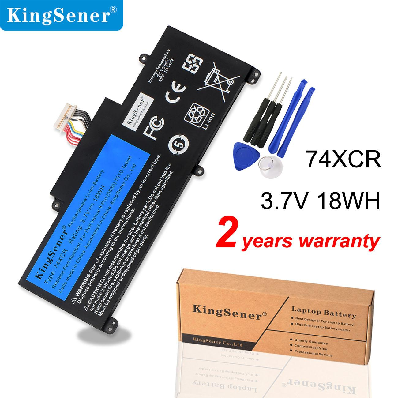 KingSener 74XCR 074XCR Laptop Battery For Dell Venue 8 Pro 5830 T01D VXGP6 X1M2Y Tablet Series 3.7V 18WH