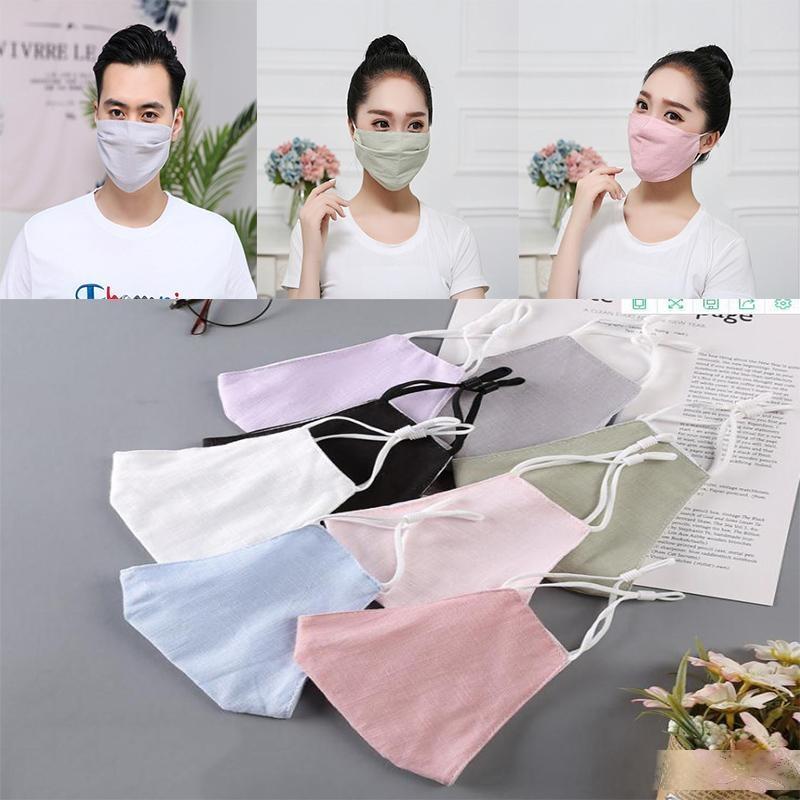 Novos homens e mulheres mais à prova de poeira e à prova de sol ajustável máscara de algodão puro máscaras preto fino design da moda da450