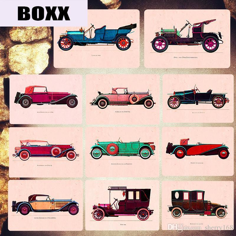 2019 Classic Cars Metal Plates Garage Pub Casino Decorative Signs Rattletrap Art Poster Wall Stickers Vintage Home Decor MN101