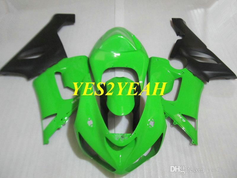 Kit de carenado de molde de inyección para Kawasaki Ninja ZX6R 05 06 ZX 6R 636 2005 2006 ABS Green Black Carnings Bodywork KK02
