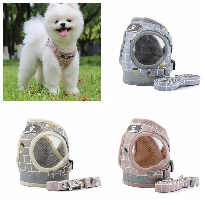 Reflektierende Streifen Hundegeschirr Leinen Vorräte Set Safe Spaziergang Die Hundegeschirr Kragen Hunde Kleidung Haustier Hund Zubehör LLS291
