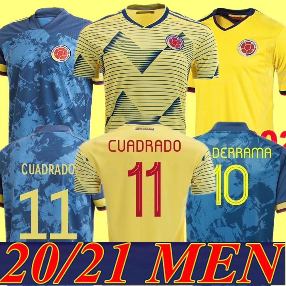 최신 2020 콜롬비아 멀리 축구 유니폼 키트 키트 20 21 James Copa America 콜롬비아 축구 셔츠 Falcao Camiseta de Futbol Maillot
