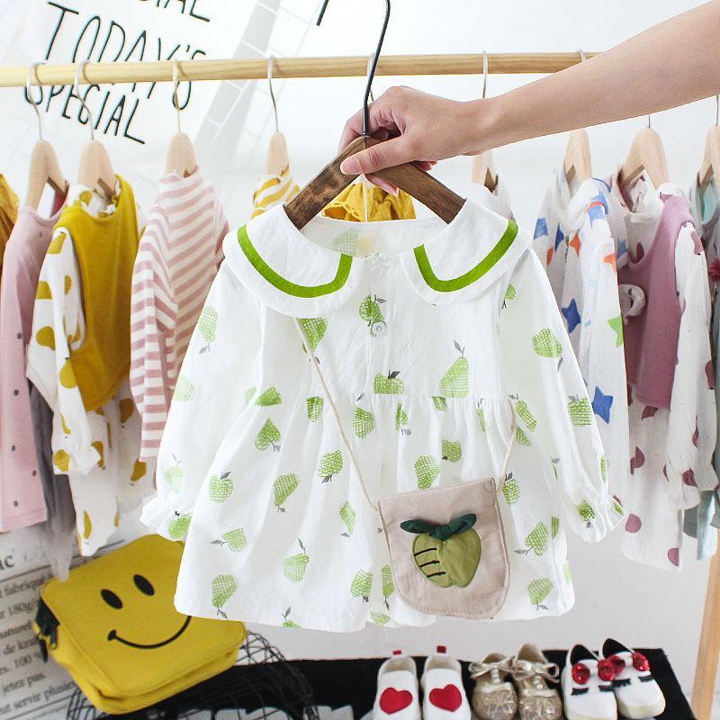 Girls Dress Spring 2020 New Year Korean Style Children Fashionable Princess Dress Baby Girls Lapel Shirt Skirt