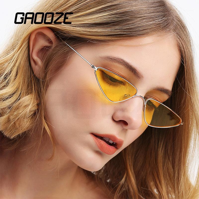 Güneş Gözlüğü Gaooze Kadınlar Kedi Gözlük Sürüş / Seyahat kadın Erkek Klasik Güneş Cam Oculos LXD481