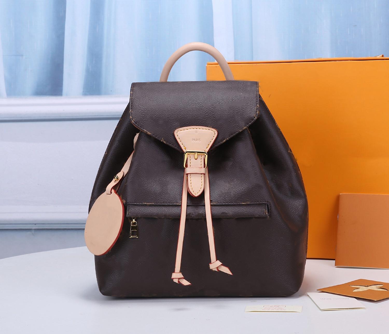 Montsouris empreinte حقيبة الظهر رجل إمرأة حقائب زهرة رسالة جلدية نمط تنقش montsouris المحافظ أكياس M45205 M45410 M45397