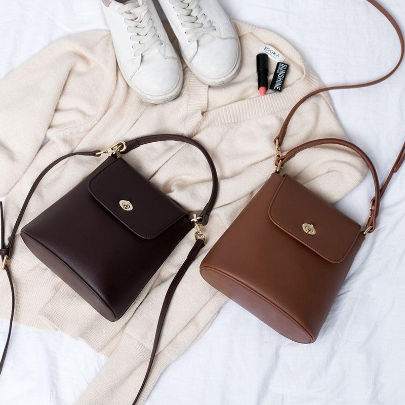 HBP Package new female bags Search small bag lock casual simple shoulder diagonal hand bag mini bucket bag