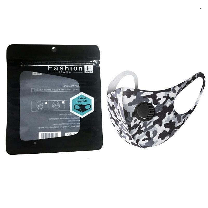 Câmera de algodão máscara máscaras respirador lavável gelo respiração rosto scfdn seda camuflagem pacote individual protetor reutilizável com pm2.5 v kehx