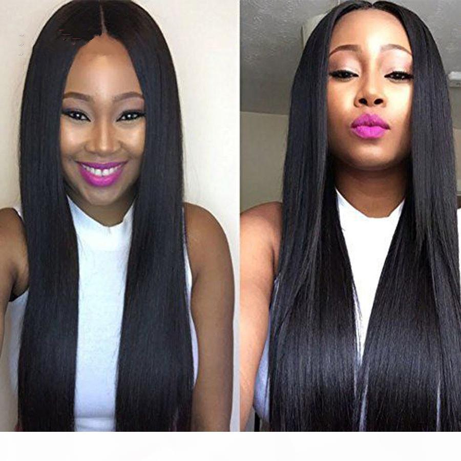 Parrucche di capelli umani anteriori del pizzo dritto di Densità del 150% per le donne nere precipitate con i capelli del bambino della parrucca dei capelli del remy brasiliani del bambino FZP70