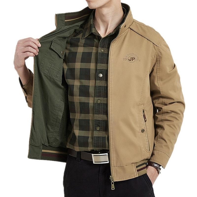 Зимняя куртка Мужчины Двусторонние Военные Куртки Пальто Пальто Чистый Хлопковый Венскрель Мужская Куртка Jaquea Masculina Plus Размер M-4XL 201028