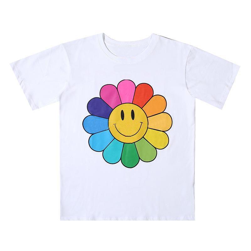 새로운 망 스타일리스트 T 셔츠 남자 여성 고품질 꽃 인쇄 블랙 블루 티셔츠 힙합 티즈 크기 S-XL