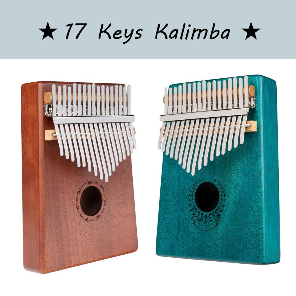 Kalimba 17 Keys Thumb Piano Solid Wood Portable Mahogany Keyboard Instrument African Kalimba Finger Piano