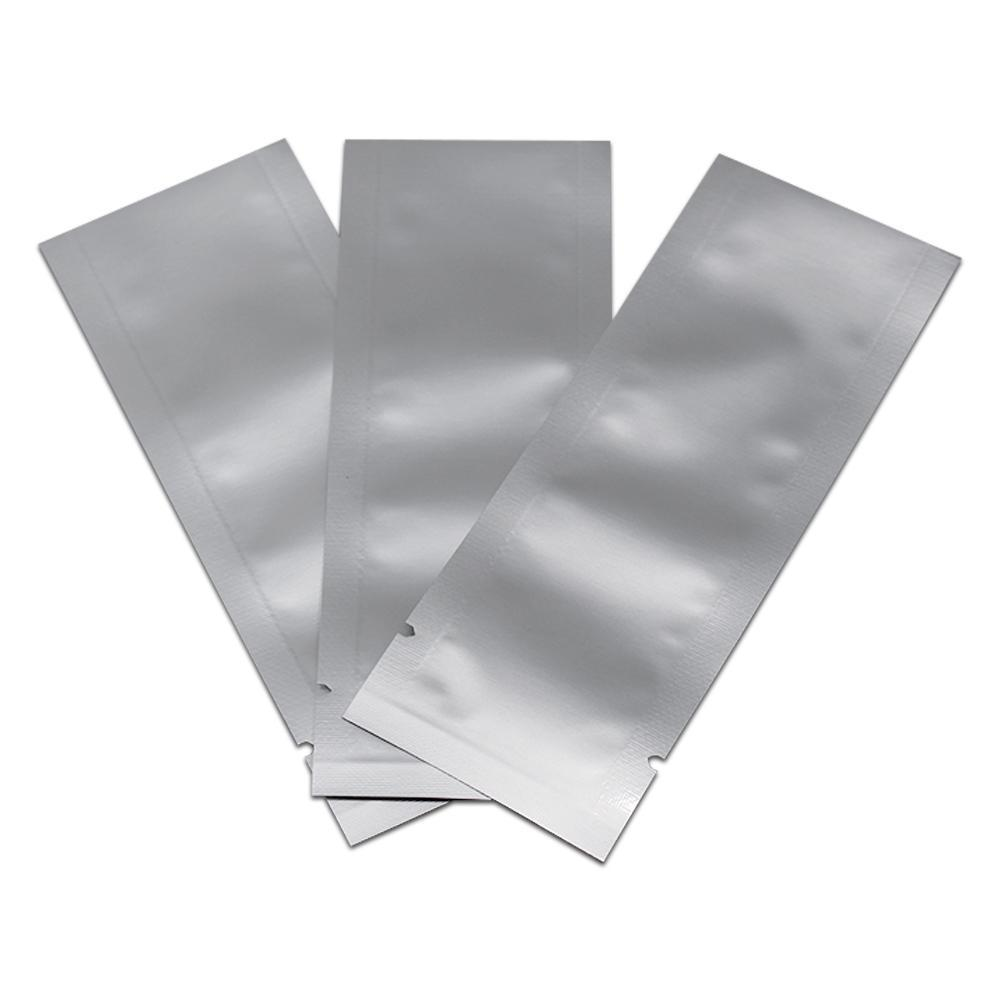 4x11cm 300 PCS Open Top Pure Aluminum Foil Heat Seal Packing Bags for Coffee Tea Vacuum Heat Sealing Mylar Food Foil Storage Packing