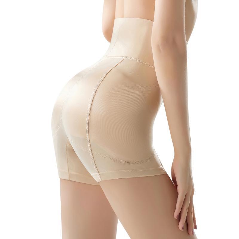 النساء السوائل عالية الخصر غير مرئية الورك محسن ملابس داخلية مبطن الجسم المشكل منصات الملابس الداخلية رفع سراويل التحكم