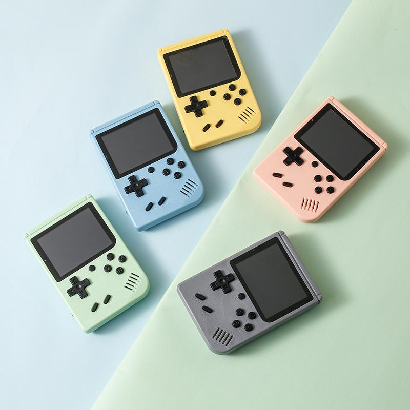 Gift Handheld Macaron Game Console Retro Video Game player Can Store 500/400 in1 Games 8 Bit 3.0 Inch Colorful LCD Cradle