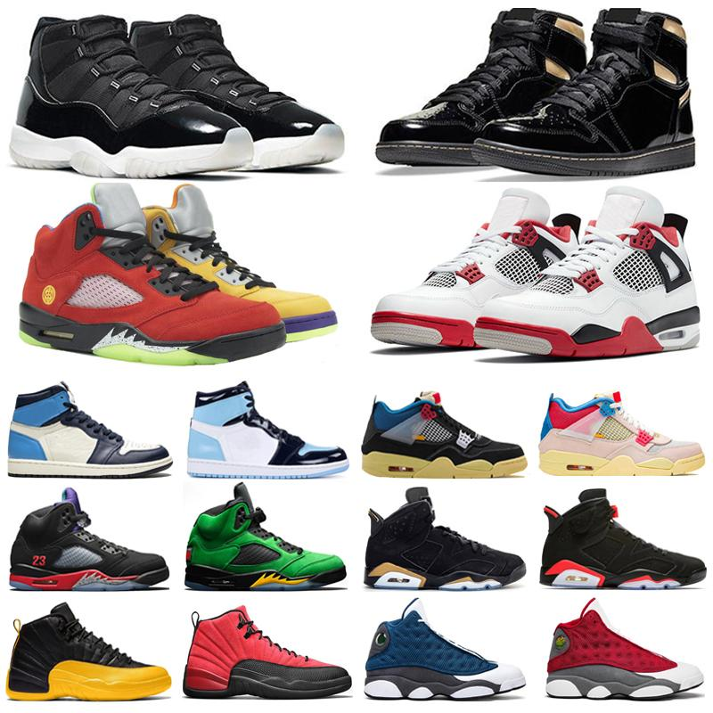 Basketball Shoes Mens Trainers Jumpman 1s High Black Gold 11s 25th Anniversary 12s University Gold 4s Fire Red 5s What The Sports Sneakers