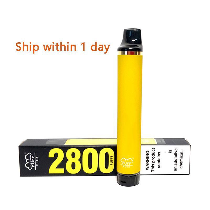 Puff Flex 2800 Puffs Dispositivos Dispositivos Dispositivos Vape Kits 1500mAh Bateria Vazio XS Flow XXL Plus Bars