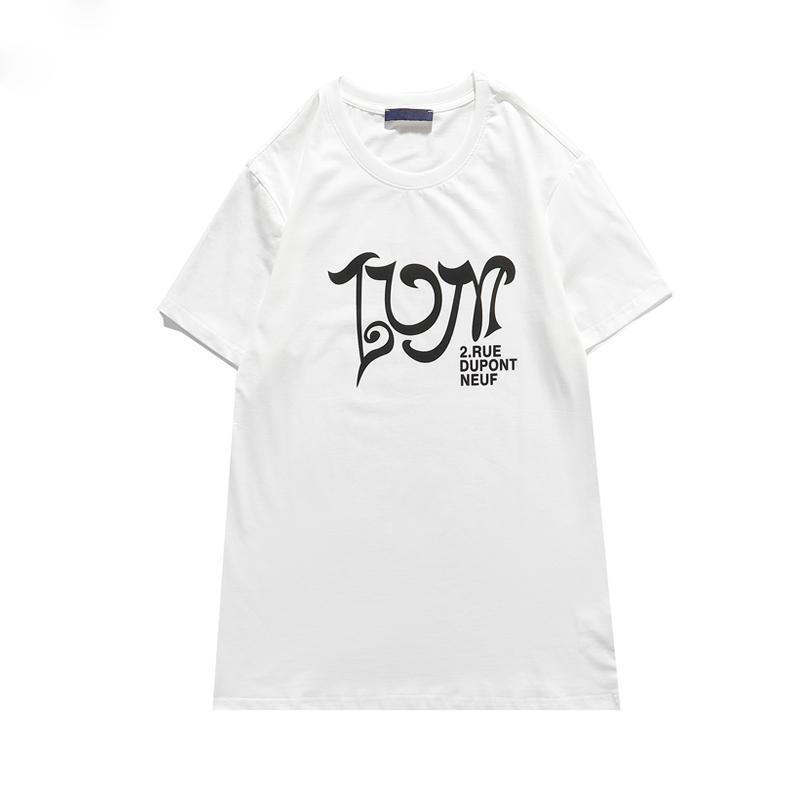 1854ss Yüksek Kalite Hip Hop Streetwear T-Shirt Erkekler Kadınlar Kaykay Tshirt Tasarımcılar Tees Gömlek Moda Baskı Ekip Boyun Lops Ile