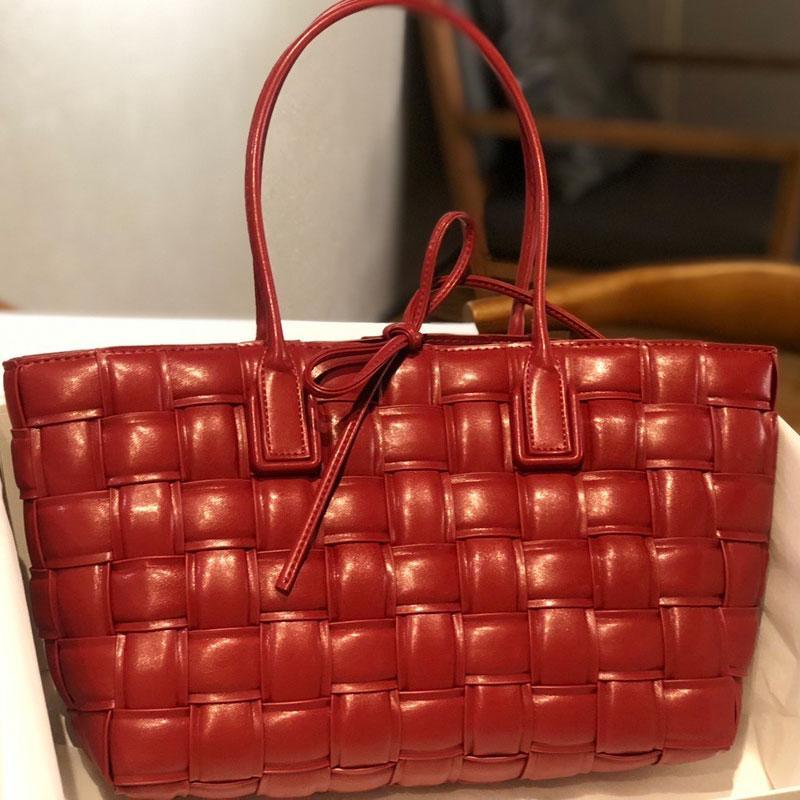 Weave Mode Taschen Geldbörse echte shers große handtaschen echte hochtasche qualität handtaschen plain leder hand tote lady heiße sktds