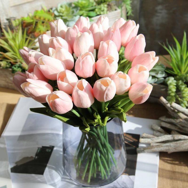 20pc30pc Tulpen Künstliche Blumen Real Touch Pu Künstliche Para Decora Bouquet Tulpe Für Zuhause Hochzeit Dekoration Blume B1016