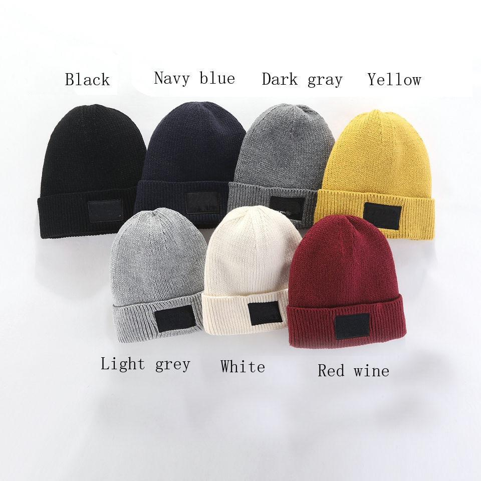 2021 Fashion Beanies TN Brand Men Autumn Winter Hats Sport Knit Hat Thicken Warm Casual Outdoor Hat Cap Double Sided Beanie Skull Caps