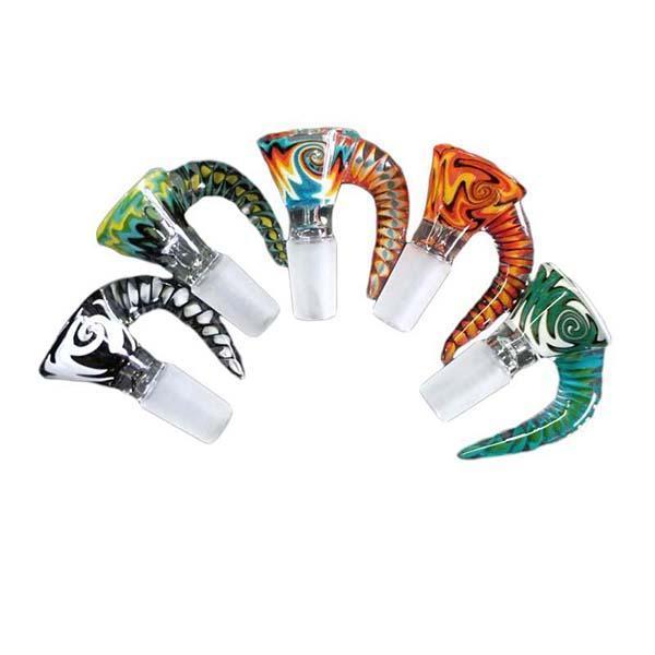2021 neue stil bunte glasschüssel 14mm 18mm männliche farbige glasschüssel kräuterschüssel für glas bong wasser pipe rauchende rohre