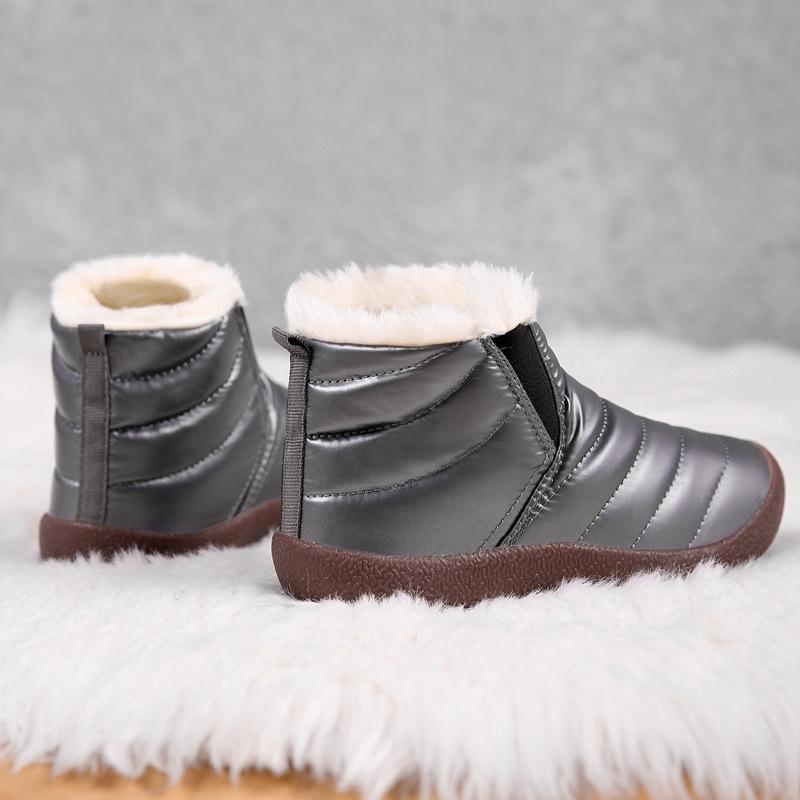 dna5 fourrure fourrure enfant cp9bm bébé fille bébé courte doublure imperméable bottes de neige bottes de neige courtes fermeture fermeture hiver chaussures enfants garçons