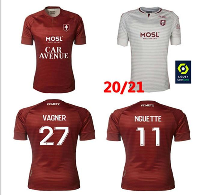 FC Metz 20 21 Shirt de football Diallo 20 Centonze 18 Wagner 27 Niane 7 FOFANA 6 HOME 2020 2021 Chemise de football pour hommes