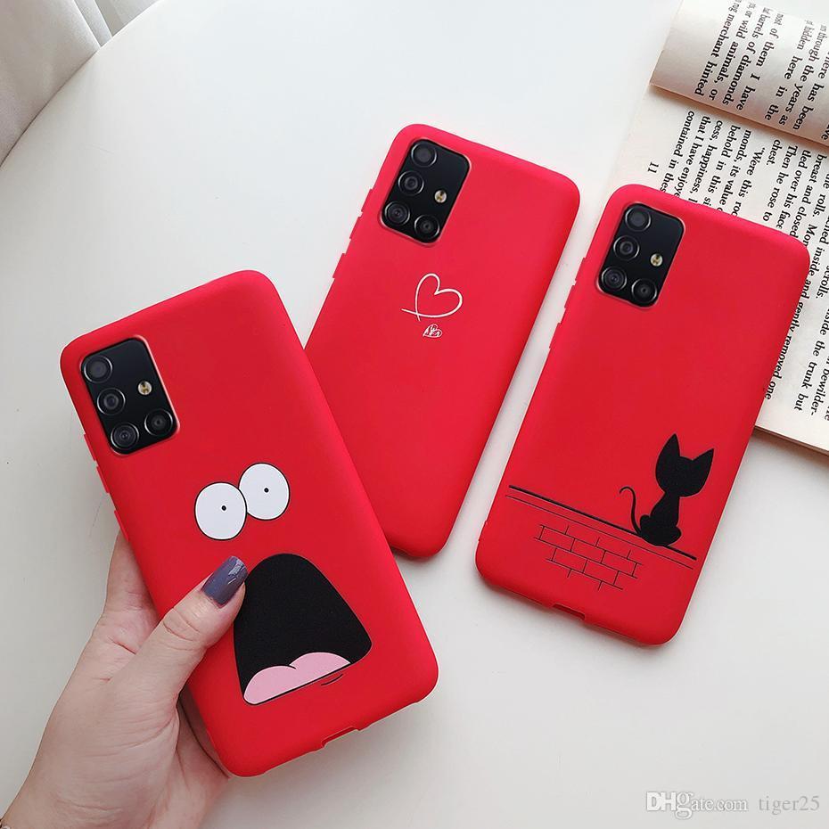 Para capa Samsung Galaxy A51 Case Suave Pintura Ultra-fina TPU Silicone Capa para Samsung A51 SM A515F A515 A 51 Case Phone