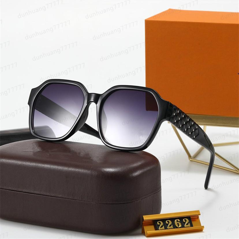 Moda New Ladies Gafas de sol Diseñador Gafas de sol Completo Marco superior Calidad Estilo de moda urbano UV400 Gafas de alta calidad 2262S Fljfe