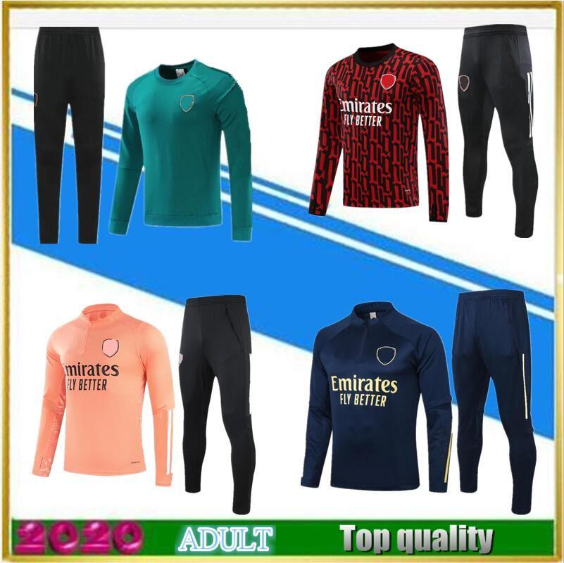Neue 2020 2021 Gunners Erwachsene Fußball Trainingsanzug Survertement 20 21 Pepe Nicolas Soccer Trainingsanzug Jacke Camiseta de Fútbol Jogging Sets