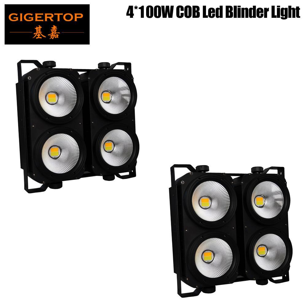 Satın Al Tiptop 2 Adet 4x100w LED COB Blinder Işık 4 Gözler 100 W LED Kitle  Işık İsteğe Bağlı Kontrol LEDleri Tek Tek, TL3,279.78
