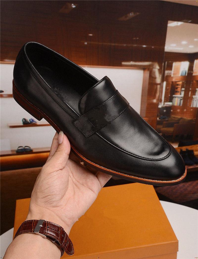 19mm Mans Dress Shoe Business Mans Scarpe formale Traspirante in pelle di lusso Uomo Scarpa Ufficio Mocassim Masculino Couro Yecq5