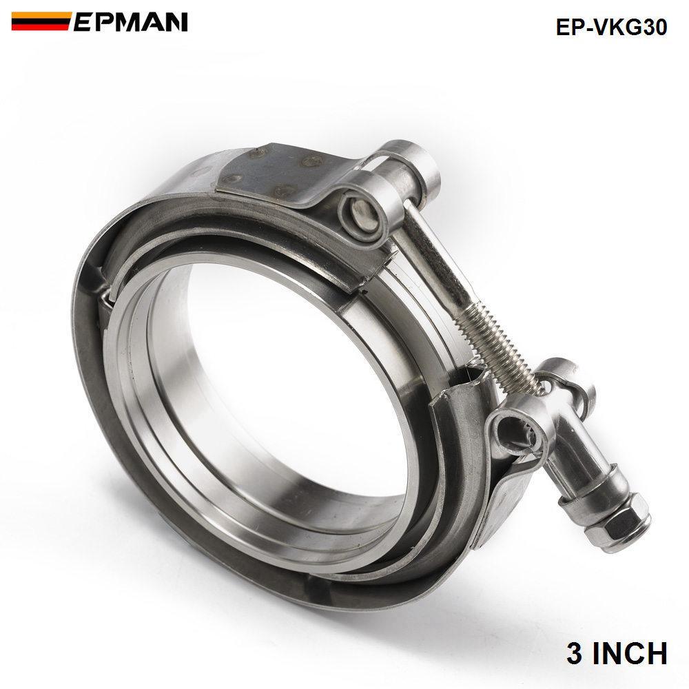 2013 TANSKY- Universal Universal Mise à niveau de 3 pouces Pièces de pince V-Band pour Turbo, Tuyaux d'échappement TK-VKG30