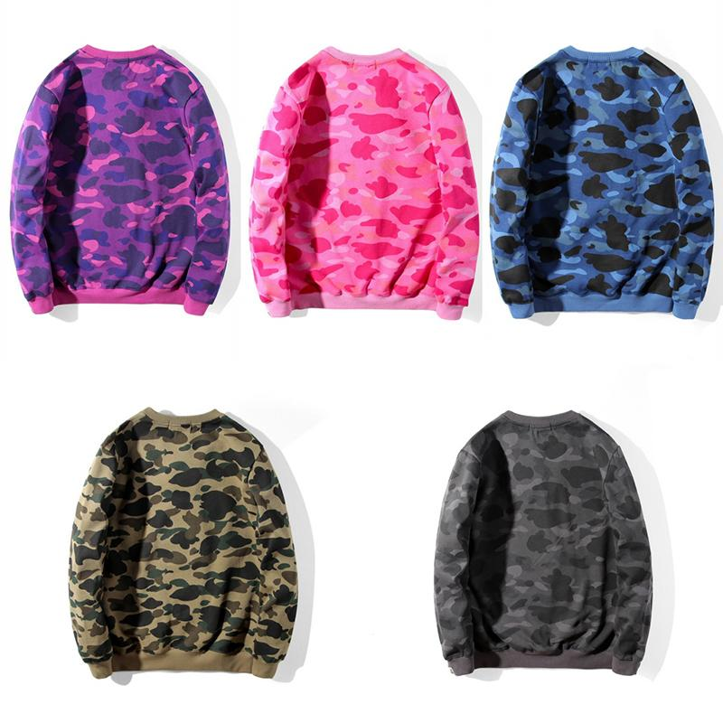 Mens camouflage Pattern Print Sweatshirt Mens Stylist 5 color Pullover Long Sleeve High Quality Men Women Hoodies Size M-2XL