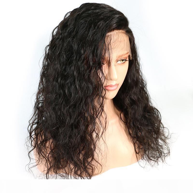 13x4 Dentelle Front Human Cheveux Perruques 130 Densité Water Wave Brésilien Remy Cheveux pour femmes noires avec bébé cheveux